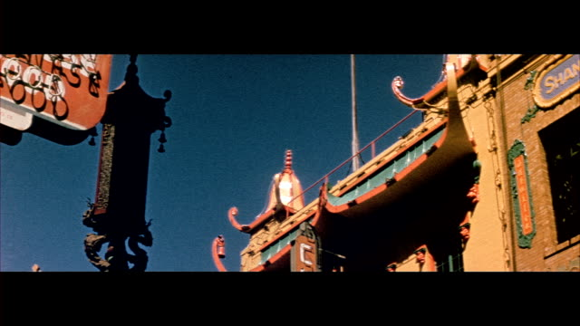 1955 san francisco's chinatown neighborhood - 1955 stock videos & royalty-free footage