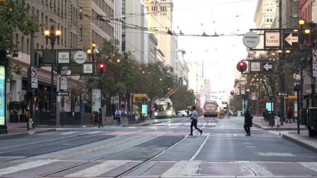 san francisco's downtown market street. - san francisco california stock videos & royalty-free footage