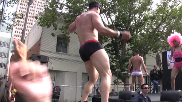 san francisco's gay pride parade festivities took on an extra sparkle this weekend after new york legalized gay marriage on friday san francisco... - san francisco gay pride parade stock videos and b-roll footage