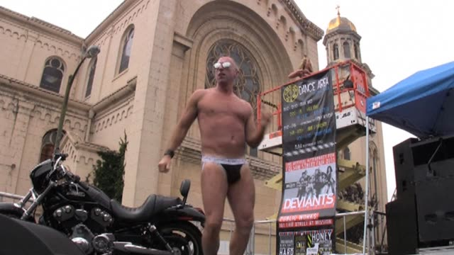 san francisco's xrated folsom street fair a gay and lesbiancentric public party heralded as the grand daddy of all leather events shows off skin... - x rated stock videos & royalty-free footage