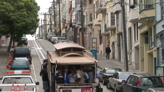 San FranciscoView of a Cable Car passing in San Francisco United States