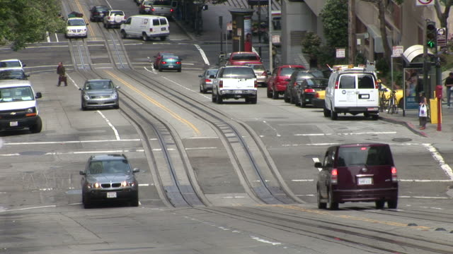san franciscoview of a street in san francisco united states - カリフォルニアストリート点の映像素材/bロール