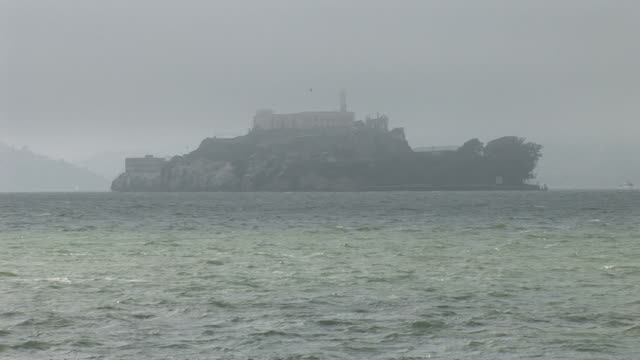san franciscoview of alcatraz island in san francisco united states - backwater stock videos & royalty-free footage