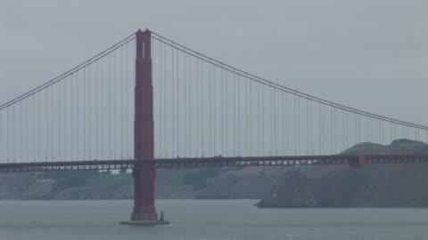 vidéos et rushes de san franciscoview of golden gate bridge in san francisco united states - océan pacifique nord