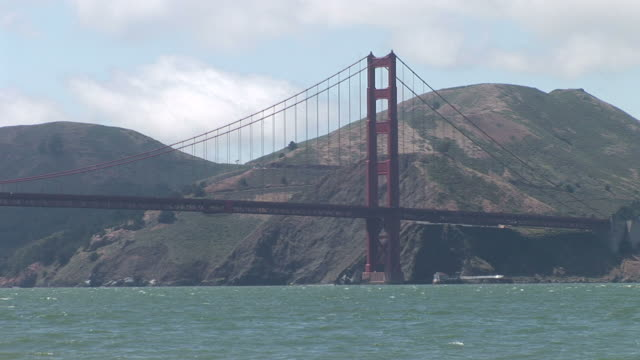 san franciscoview of golden gate bridge in san francisco united states - backwater stock videos & royalty-free footage