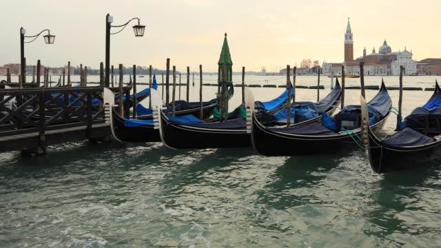 San Giorgio Maggiore Church and Gondolas From St. Mark Square, Venice, Italy