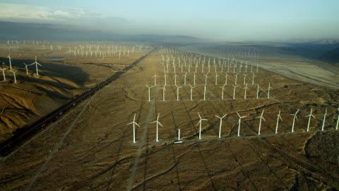san gorgonio pass wind farm in california - wind turbine stock videos & royalty-free footage
