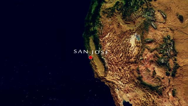 san jose 4k  zoom in - san jose california stock videos & royalty-free footage