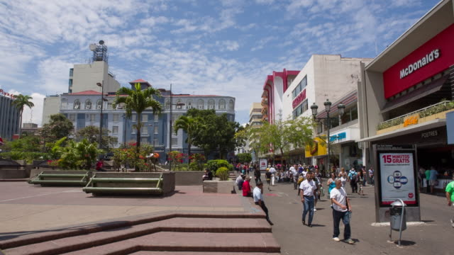 san jose downtown - costa rica stock videos and b-roll footage