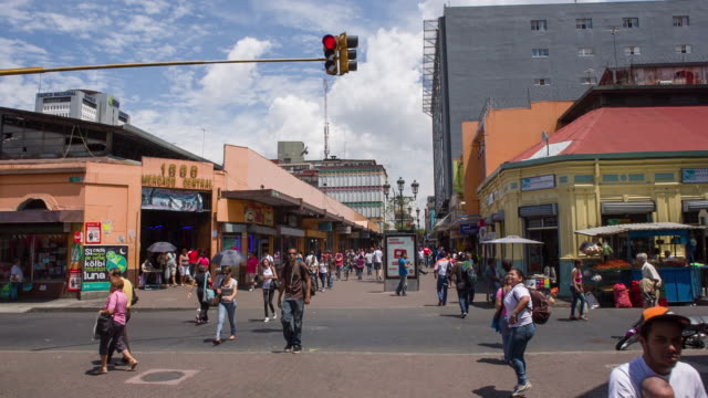 san jose downtown - costa rica video stock e b–roll