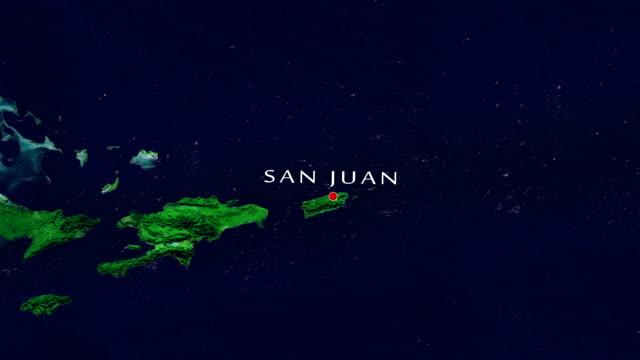 vídeos de stock, filmes e b-roll de san juan 4k ' mais zoom ' - porto riquenho