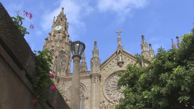 ms, la, san juan bautista church, arucas, gran canaria, province of las palmas, canary islands, spain - grand canary stock videos & royalty-free footage