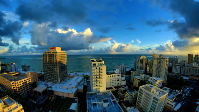 san juan, puerto rico 4k 30p - caribbean sea stock videos and b-roll footage