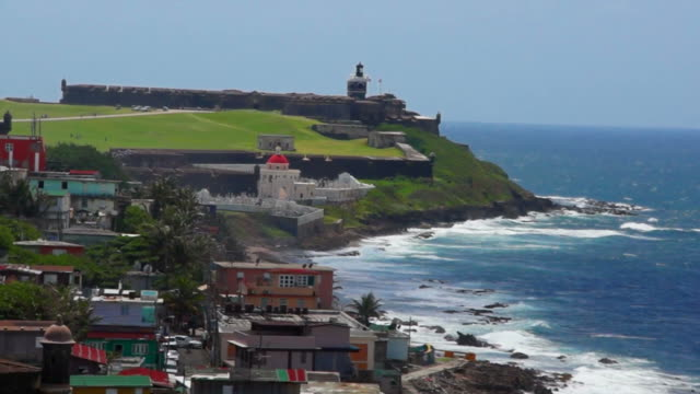 san juan, puerto rico: the city and fort saint felipe - puerto rico stock videos and b-roll footage