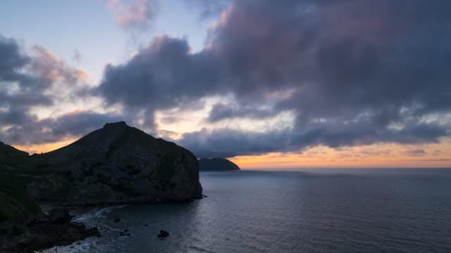 San Julian beach at sunset, Cantabrian Sea, Liendo Valley, Cantabria, Spain, Europe