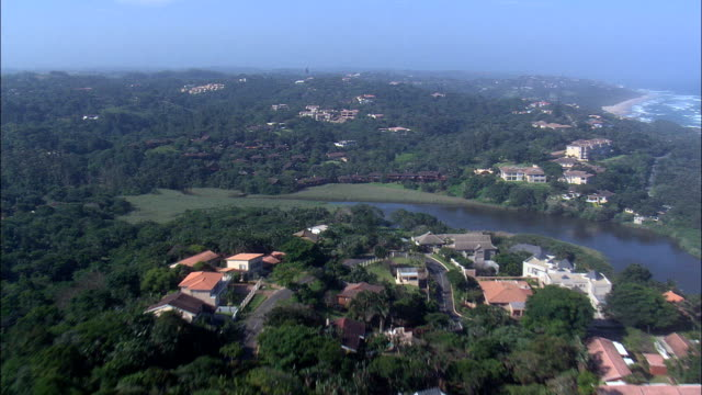 san lameer to ramsgate  - aerial view - kwazulu-natal,  ugu district municipality,  hibiscus coast,  south africa - ramsgate stock videos and b-roll footage