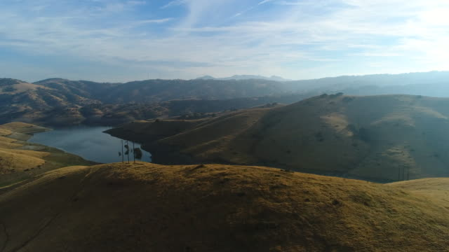 san luis reservoir - foothills stock videos & royalty-free footage