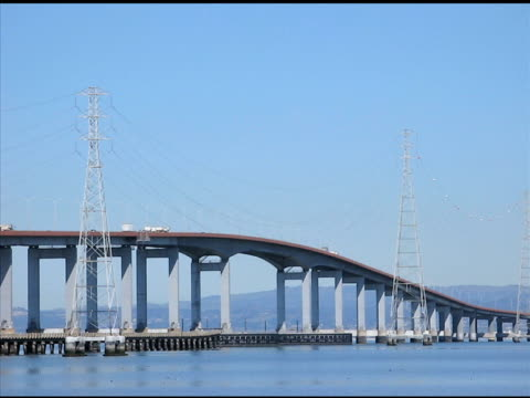 san mateo bridge (ntsc) - earthquake stock videos and b-roll footage