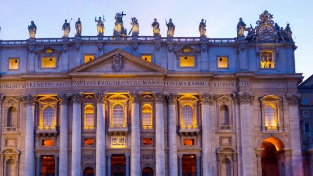 san pietro basilica, vatican - 教会点の映像素材/bロール