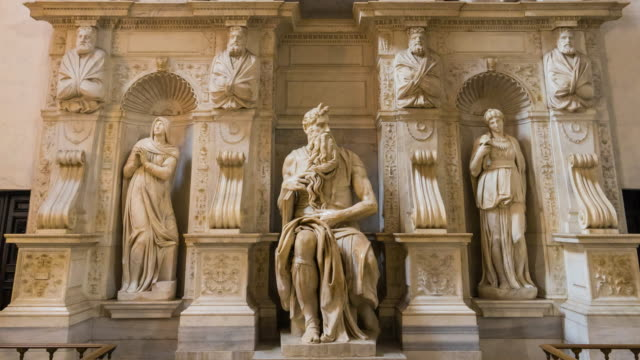 san pietro in vincoli church - human representation stock videos & royalty-free footage