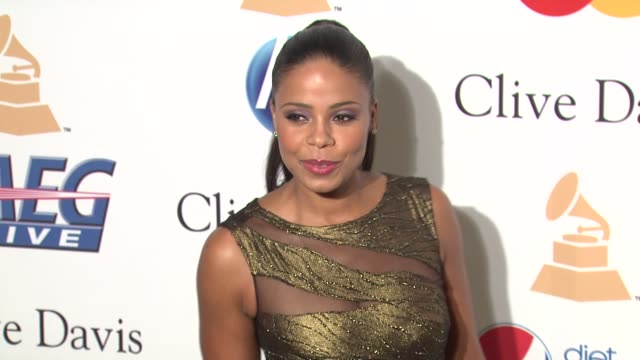 Sanaa Lathan at the PreGRAMMY Gala Salute To Industry Icons With Clive Davis Honoring David Geffen at Beverly Hills CA