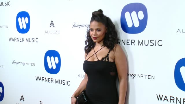 Sanaa Lathan at Warner Music Group Grammy After Party 2016 in Los Angeles CA