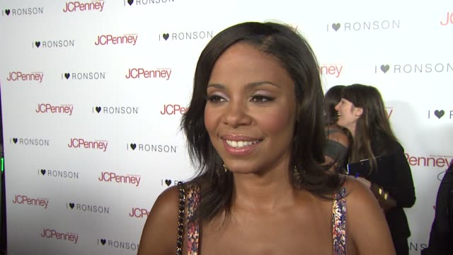 Sanaa Lathan on attending tonight's event and on Charlotte Ronson and JCPenny being a good partnership at the Charlotte Ronson Dinner at Los Angeles...