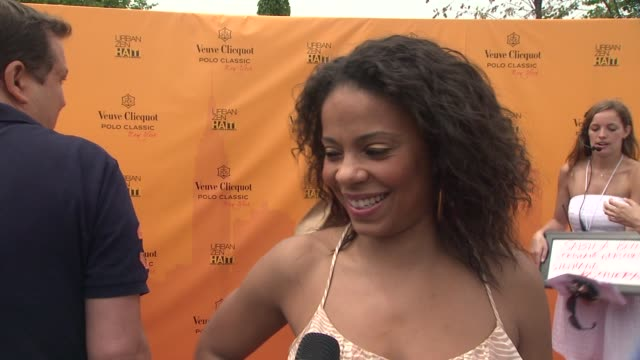 Sanaa Lathan on being happy to be out in sunshine and at the event at the The Fourth Annual Veuve Clicquot Polo Classic at New York NY