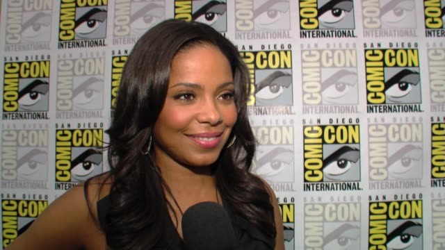Sanaa Lathan on what she loves about her job at the ComicCon 2009 The Cleveland Show at San Diego CA