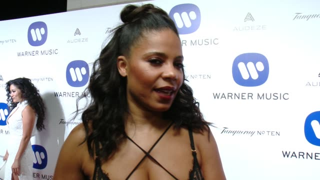 INTERVIEW Sanaa Lathan on why she wanted to celebrate with Warner looking forward to Missy Elliot's performance and what she thought of the show at...