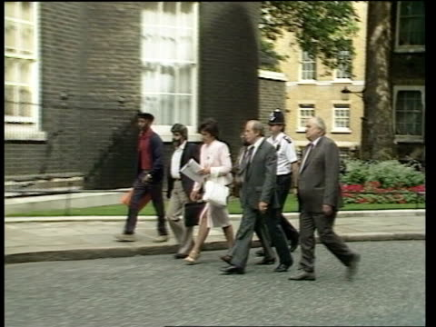 sanctions england london members of commonwealth trade unions hand in petition at no10 - 制裁点の映像素材/bロール