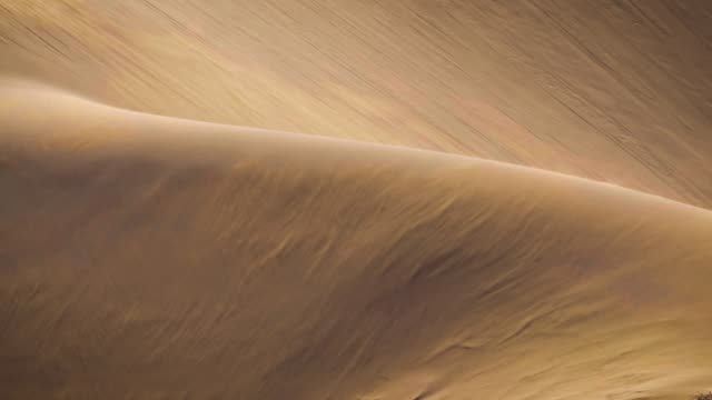 vídeos de stock e filmes b-roll de sand blowing over the dunes, slowmotion - natureza