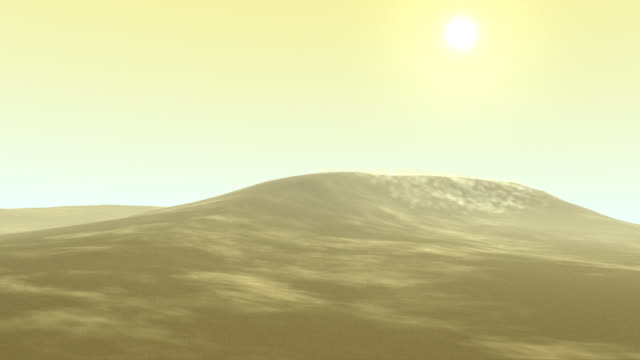 Sand blows in dunes 3D