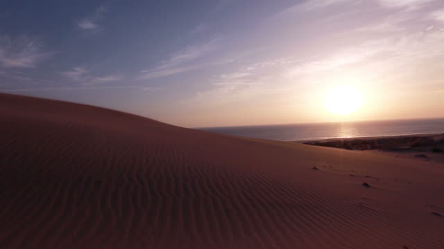 Sand Desert with sunset