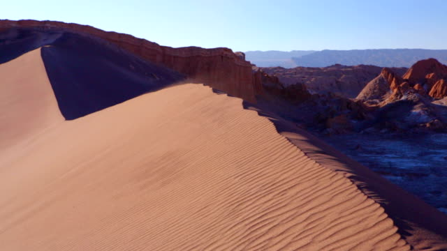 sand dune in valle de la luna, atacama desert, chile - chile stock videos and b-roll footage