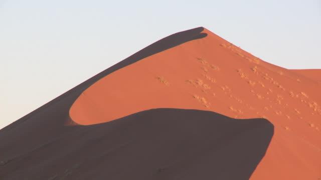 sand dune, sossusvlei, namib-naukluft, namibia - schattig stock-videos und b-roll-filmmaterial