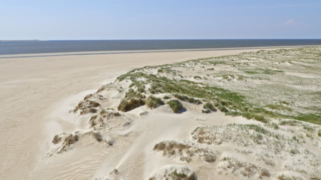 AERIAL Sand dunes in sunshine