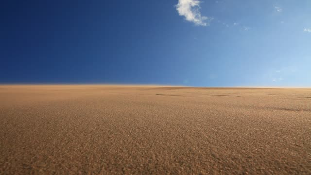 Sand dunes on a blue sky background