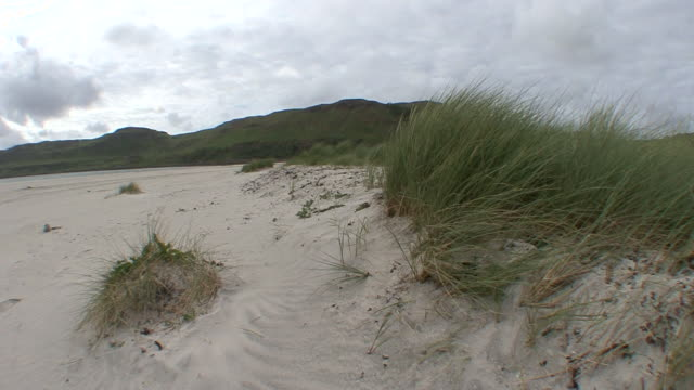 sand dunes - hebrides stock videos and b-roll footage