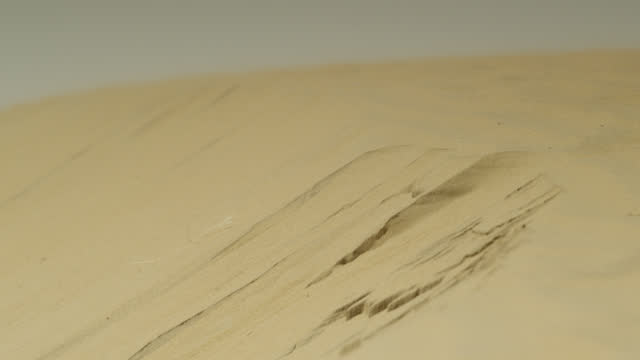 sand slides down dune, india. - sand dune stock videos & royalty-free footage