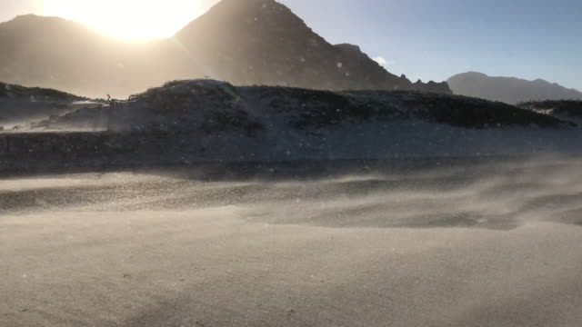 sand storm blowing furiously in south africa - sandstorm stock videos & royalty-free footage
