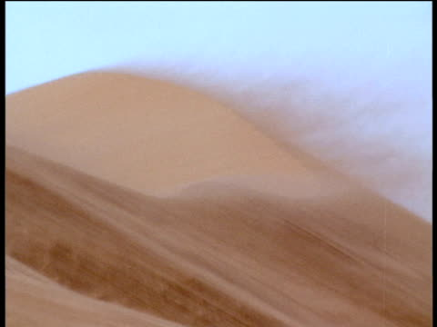 Sand storm blows over dunes in Thar Desert, Rajasthan
