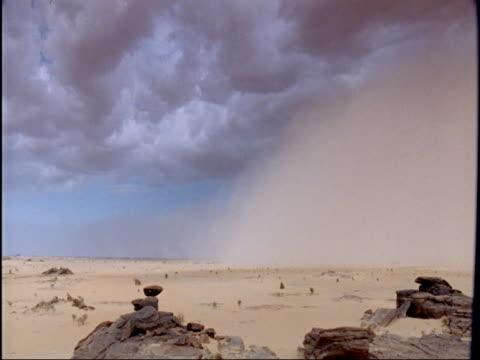 sand storm in sahara desert, niger - ニジェール点の映像素材/bロール