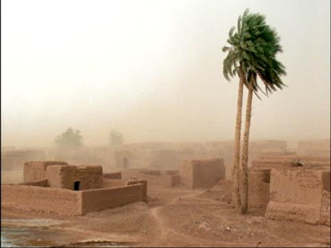 stockvideo's en b-roll-footage met sand storm in sahara desert, niger - establishing shot