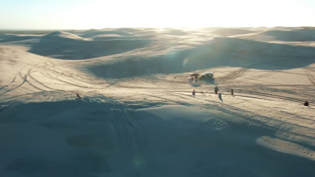 sand surfers - namibian desert stock videos and b-roll footage