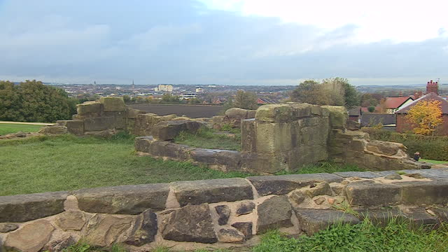 sandal castle in wakefield - ruined stock videos & royalty-free footage