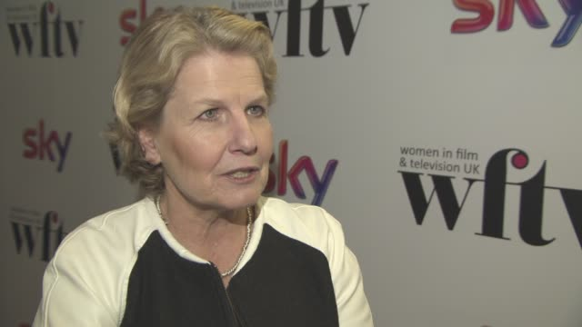 interview sandi toksvig on winning an award her work setting up the women's equality party preparing to take over 'qi' from stephen fry at sky women... - sandi toksvig stock videos & royalty-free footage