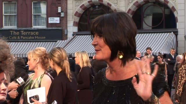 sandie shaw and miranda richardson at the made in dagenham world premiere at london england. - ミランダ リチャードソン点の映像素材/bロール