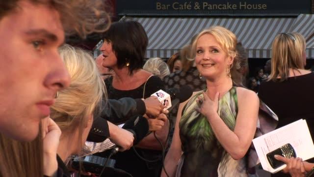 sandie shaw, sally hawkins and miranda richardson at the made in dagenham world premiere at london england. - ミランダ リチャードソン点の映像素材/bロール