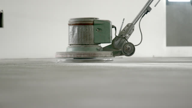 sanding the concrete floor - flooring stock videos & royalty-free footage